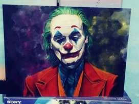 Cuadro joker pintado a mano