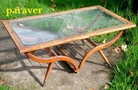 Rara y Exclusiva mesa Ratona De Diseño Retro Vintage 60 Escandinava para lustrar y encolar