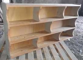 Biblioteca estantes repisa madera maciza