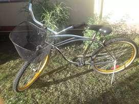 Bici playera en exelente estado rod.26.cub.import.cromada