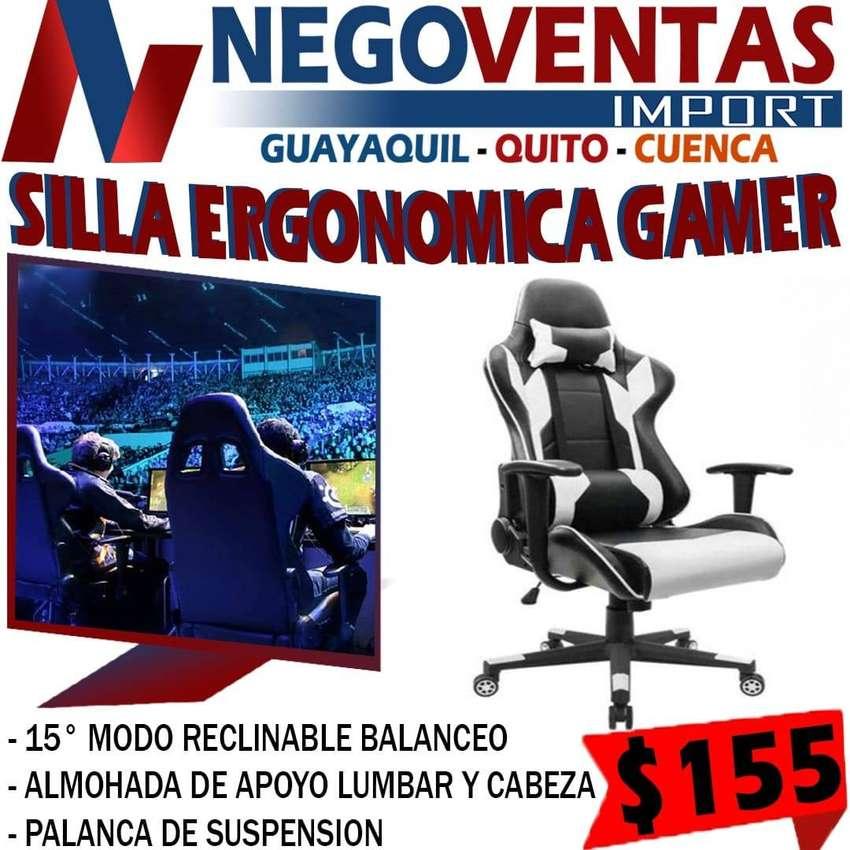 SILLA ERGONOMICA GAMER NUEVO EN STOCK MEGA OFERTA EXCLUSIVA UNICAMENTE AQUI EN NEGOVENTAS LOS MEJORES PRECIOS 0