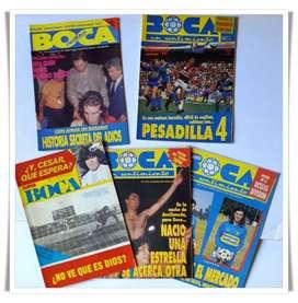 Revistas partidarias de Boca: Son 4 de Boca un Sentimiento del 92/93 y una de Súper Boca de 1981