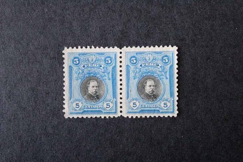 BLOCK 2 ESTAMPILLAS PERÚ, 1918, MANUEL PARDO, PRIMER PRESIDENTE CONSTITUCIONAL, MINT SIN GOMA 0