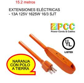 Extensión Eléctrica 15.24 Mts 13a 125v 1625w 16/3 Sjt