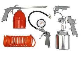 Kit De Aire Compresor 5 Accesorio Inflador Pistola Pintar