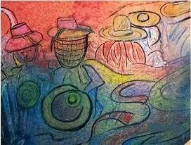 Vendo o Cambio Pintura Ñaupari Pastel 70x50