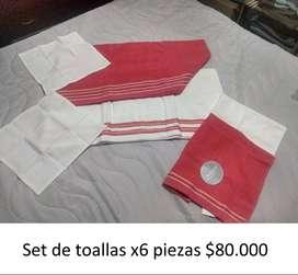 Set de toallas x 6 piezas