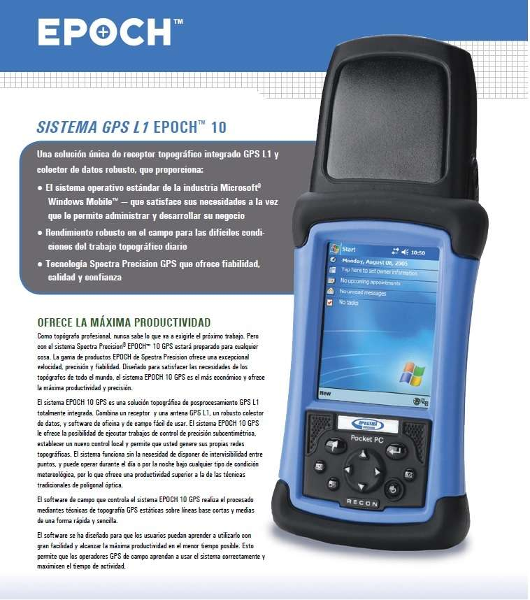 GPS Submetrico Epoch 10 (Linea Trimble) 0