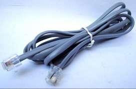 Cable Telefónico 1,8 M Para Teléfono/modem Rj11. 4 Hilos Nvo