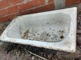 Bañera de hierro Antigua gruesa