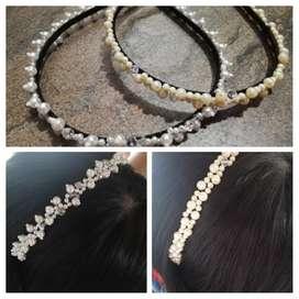Diademas de perlas