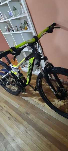Bicicleta kawasaki (DOBLE SUSPENSIÓN)