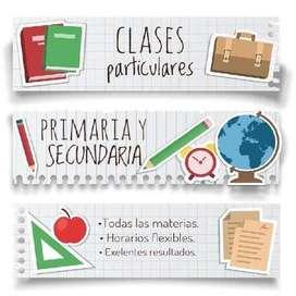 Clases y refuerzos escolares