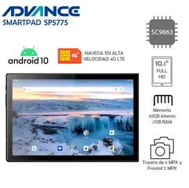 """Tablet Advance SP5775, 10.1"""" 4G LTE IPS 1920*1200, 32GB, 2GB RAM, Android 10 , Diseño IP54"""