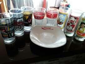 Vasos Y Plato Cocacola