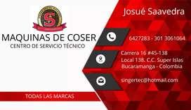 Máquinas de Coser servicio técnico