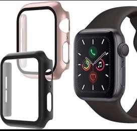 Protector 360 vidrio templado para Apple Watch 4/5/6 44mm (Policarbonato con vidrio templado)