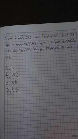 clase particular de matemáticas.