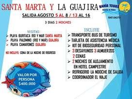 TOUR A LA GUAJIRA SALIDAS AGOSTO