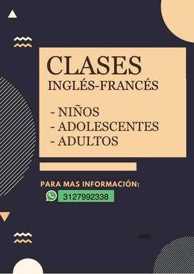 Clases personalizadas de Inglés y Francés