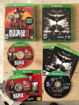 Juegos Xbox One 2x1 Juegos Red Dead Redemption2+Batman Arkham Knigth