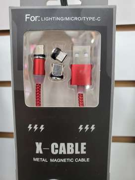 CABLE MAGNÉTICO TIPO C MICRO USB lightning
