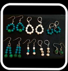 Vendo joyas artesanales de Acero y Plata con Perla Natural y Piedras