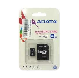 Memoria Flash Micro Sdhc Adata Class4 8gb Con Adaptador Sd Nuevo