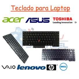 Teclado para laptop netbook hp toshiba acer dell lenovo sony vaio