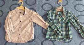 Camisas baby fresh y offcorss talla 2
