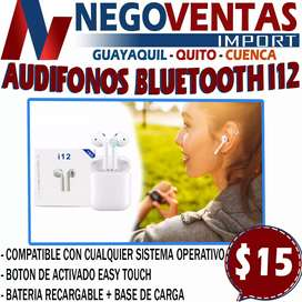 AUDIFONO INALAMBRICO I 12 BLUETOOTH