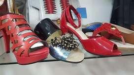 zapatos, sandalias en cuero paea dama