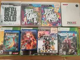 Juegos de diferentes consolas