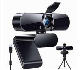 Cámara web Full hd 4K micrófono incluido USB 2.0 trípode incluido