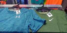 Camisetas para hacer deporte en tela jaspeada