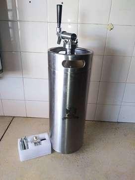 barril mini keg 10 lts