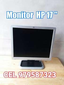"""MONITOR HP 17"""" EN PERFECTO ESTADO"""