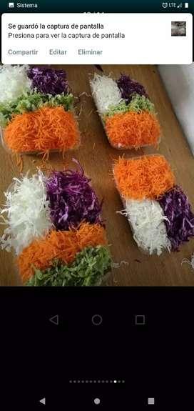 Bandejas Ensaladas verduras frescas por mayor