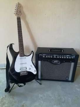 Guitarra y amplificador.