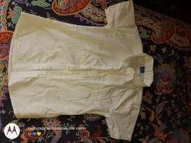 Camisa blanca mangas corta