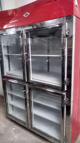 Nevera vertical refigeracion de 2 cuerpos.