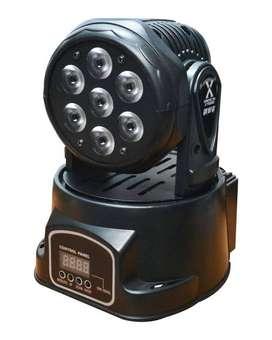 Luz Led Mini Robotica 7*10w 4 En 1 Rgb American Gm107q7