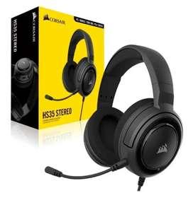 Diadema Gamer Auriculares Corsair 3,5 Mm Hs35 Stereo Headset