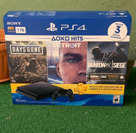 Disponible Ps4 con 3 Juegos