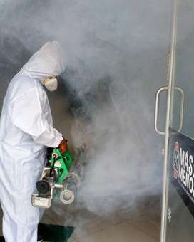 Desinfección en Santo Domingo de los Colorados