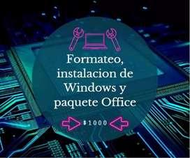 Formateo e instalación de Windows y Office