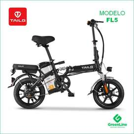 GreenLine Bicicleta Eléctrica Plegable TAILG FL5 Aro 14