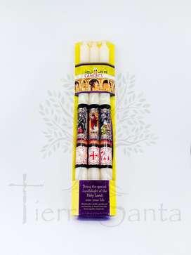 Juego 3 Velas Aromáticas Católicas traido de Jerusalén Tierrra Santa