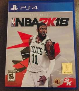 NBA 2K18 ps4 sin uso