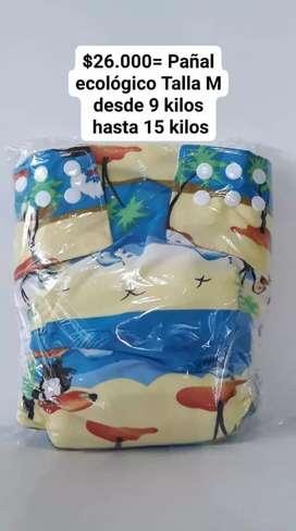 Pañales ecológicos con absorbente incluido